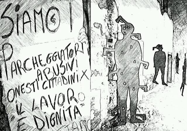 """Il """"posteggio abusivo"""" a Palermo"""